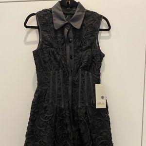 Jill Stuart Black lace A-line dress